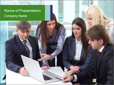 Group of business people working PowerPoint Templates