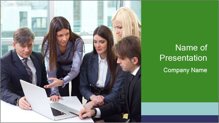 Group of business people working PowerPoint Template