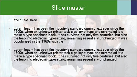 Group of business people working PowerPoint Template - Slide 2