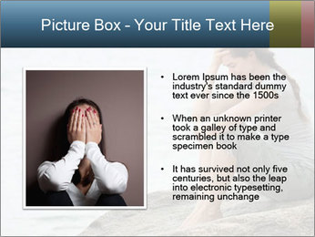 Upset and depressed woman sitting PowerPoint Template - Slide 13