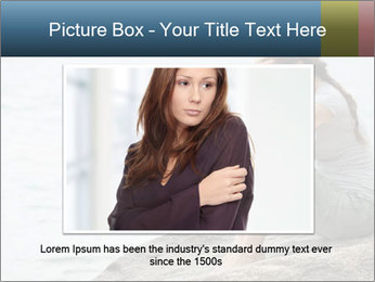 Upset and depressed woman sitting PowerPoint Template - Slide 15