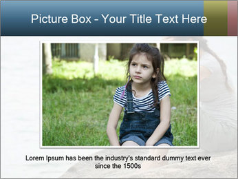 Upset and depressed woman sitting PowerPoint Template - Slide 16