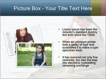 Upset and depressed woman sitting PowerPoint Template - Slide 20
