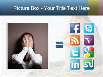 Upset and depressed woman sitting PowerPoint Template - Slide 21
