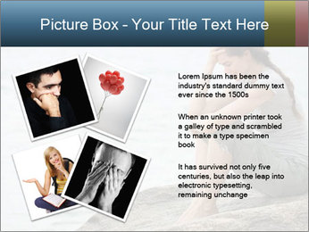 Upset and depressed woman sitting PowerPoint Template - Slide 23