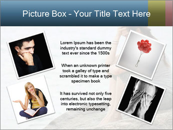 Upset and depressed woman sitting PowerPoint Template - Slide 24