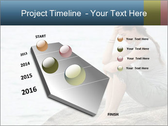 Upset and depressed woman sitting PowerPoint Template - Slide 26