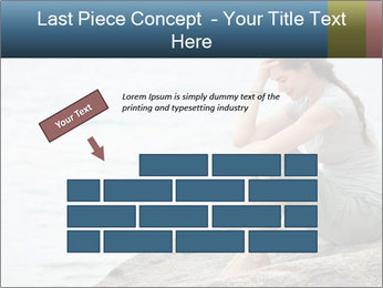 Upset and depressed woman sitting PowerPoint Template - Slide 46