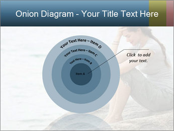 Upset and depressed woman sitting PowerPoint Template - Slide 61