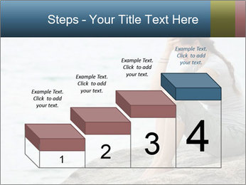 Upset and depressed woman sitting PowerPoint Template - Slide 64