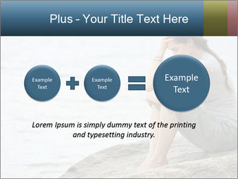 Upset and depressed woman sitting PowerPoint Template - Slide 75
