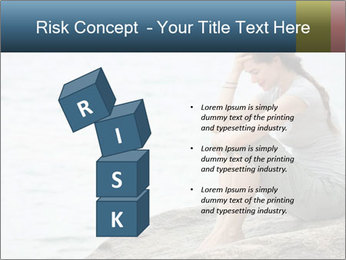 Upset and depressed woman sitting PowerPoint Template - Slide 81