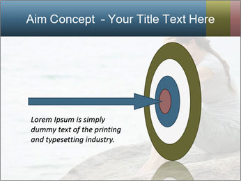 Upset and depressed woman sitting PowerPoint Template - Slide 83