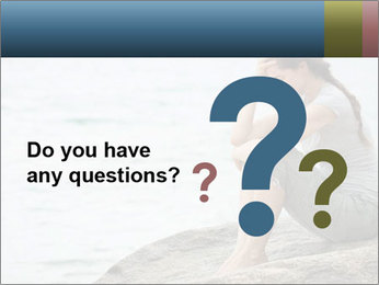 Upset and depressed woman sitting PowerPoint Template - Slide 96