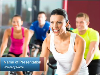 Young People doing sport PowerPoint Template