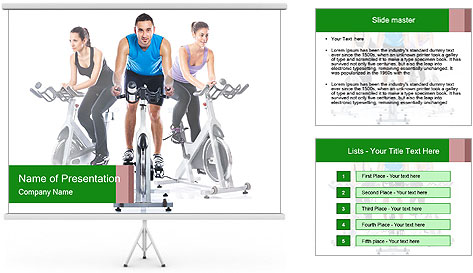Spinning training PowerPoint Template