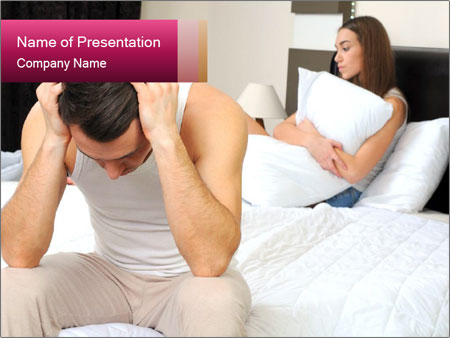 Upset man having problem PowerPoint Template