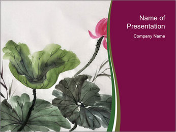 Traditional Chinese Painting PowerPoint Template - Slide 1