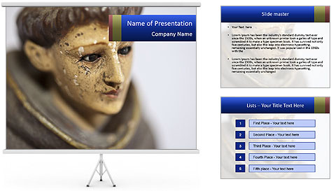 Patron Sailnts Sculpture PowerPoint Template