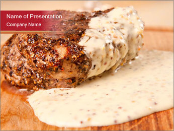 French Cuisine Appetizer PowerPoint Template - Slide 1