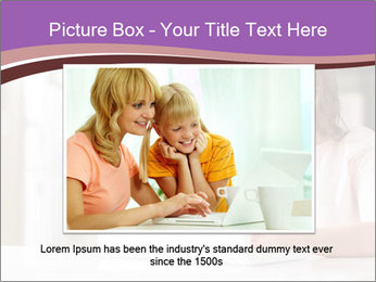Young Beautiful Woman Using Laptop PowerPoint Templates - Slide 16