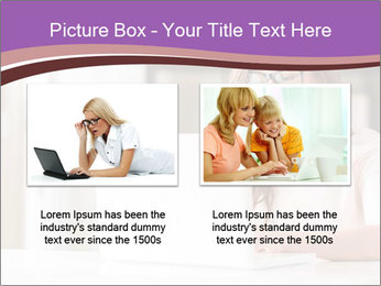 Young Beautiful Woman Using Laptop PowerPoint Templates - Slide 18