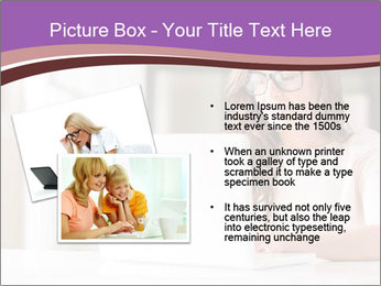 Young Beautiful Woman Using Laptop PowerPoint Templates - Slide 20