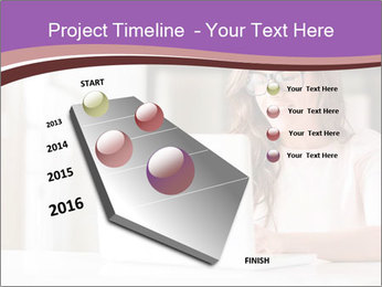 Young Beautiful Woman Using Laptop PowerPoint Templates - Slide 26