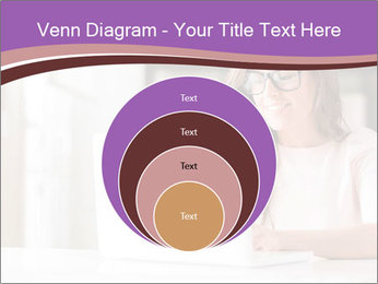 Young Beautiful Woman Using Laptop PowerPoint Templates - Slide 34
