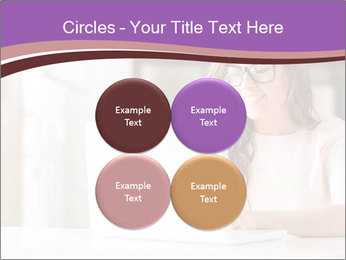 Young Beautiful Woman Using Laptop PowerPoint Templates - Slide 38