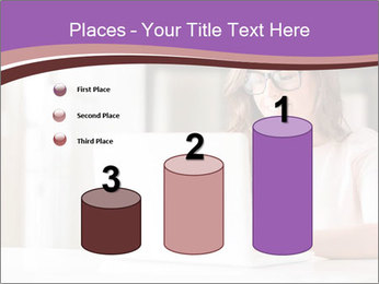 Young Beautiful Woman Using Laptop PowerPoint Templates - Slide 65