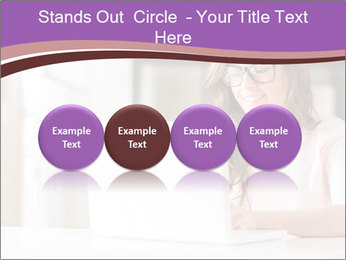 Young Beautiful Woman Using Laptop PowerPoint Templates - Slide 76