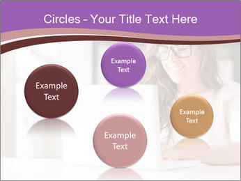 Young Beautiful Woman Using Laptop PowerPoint Templates - Slide 77
