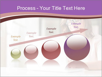Young Beautiful Woman Using Laptop PowerPoint Templates - Slide 87