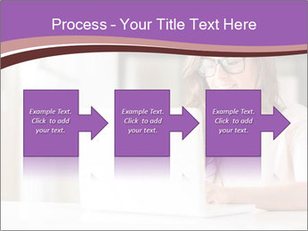 Young Beautiful Woman Using Laptop PowerPoint Templates - Slide 88