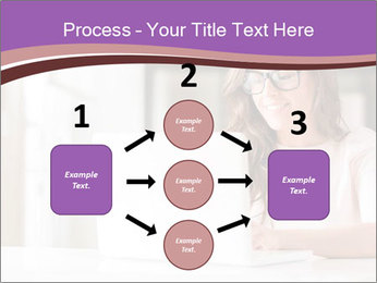 Young Beautiful Woman Using Laptop PowerPoint Templates - Slide 92