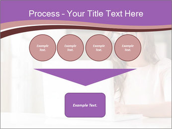 Young Beautiful Woman Using Laptop PowerPoint Templates - Slide 93