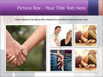 Young couple holding hands. PowerPoint Template - Slide 19