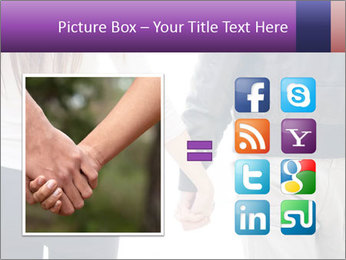 Young couple holding hands. PowerPoint Template - Slide 21