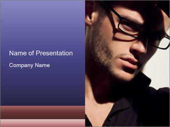 Fashion eyeglasses PowerPoint Template - Slide 1