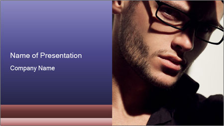 Fashion eyeglasses PowerPoint Template