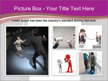 Businessman and businesswoman PowerPoint Template - Slide 19