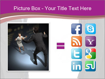Businessman and businesswoman PowerPoint Template - Slide 21