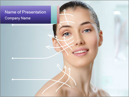 Beauty woman on the bathroom PowerPoint Template