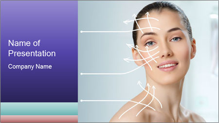 Beauty woman on the bathroom PowerPoint Template