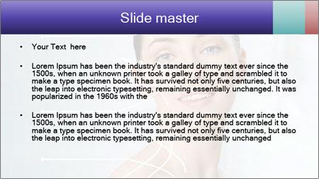 Beauty woman on the bathroom PowerPoint Template - Slide 2