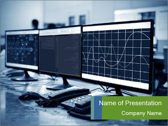 Modern plant control room PowerPoint Template