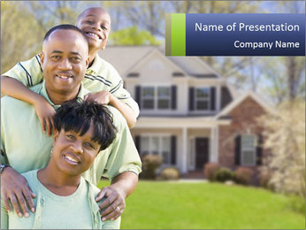 Happy African American Family PowerPoint Template - Slide 1