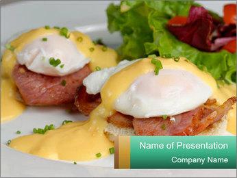 Eggs Benedict PowerPoint Templates - Slide 1