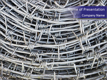Stainless Barbed wire PowerPoint Template - Slide 1